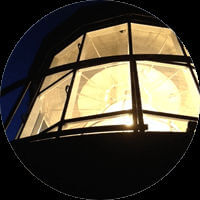 Cape Hatteras Lighthouse Light at Night